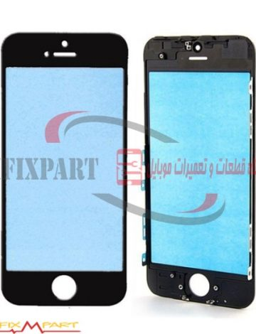 Apple iPhone 5 گلس ال سی دی لنز تاچ صفحه اصلی گوشی موبایل